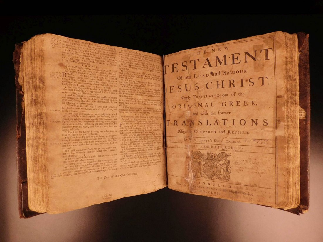 1762 RARE Alexander Kincaid Scottish HOLY BIBLE