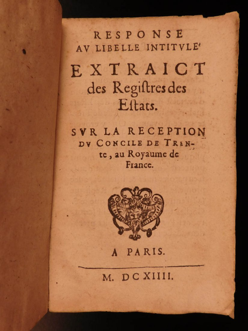 1614 Response to Council of Trent in France Catholic