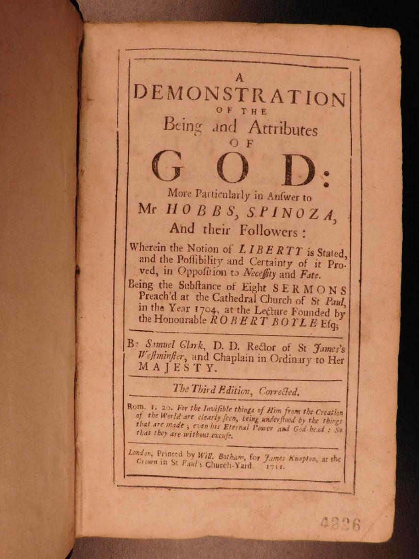 1711 Samuel Clarke Existence & Attributes of God