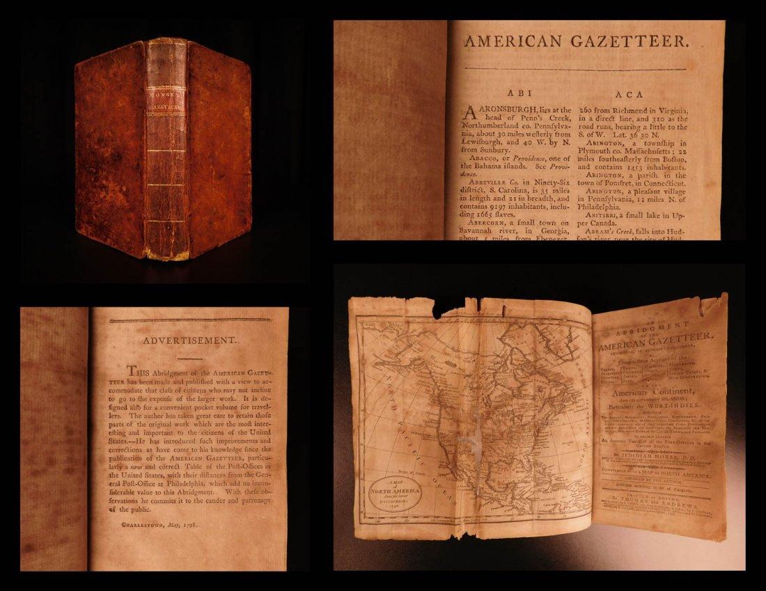 1798 American Gazetteer ATLAS Map Georgia Indians