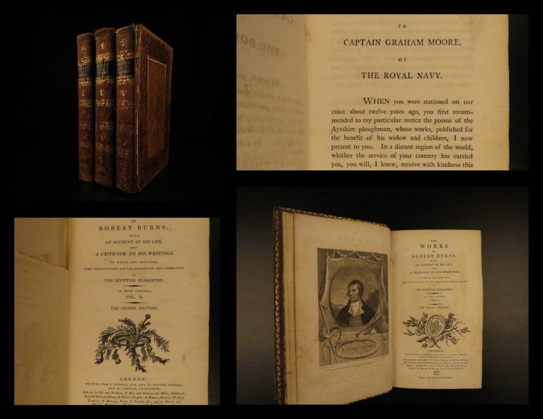 1801 Robert Burns Works Scottish Poetry & Scotland Poem