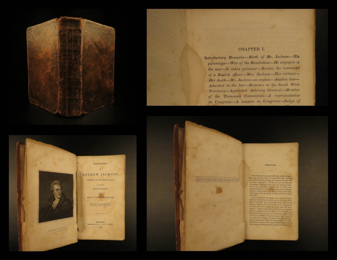 1835 President Andrew Jackson Military Battle Politics