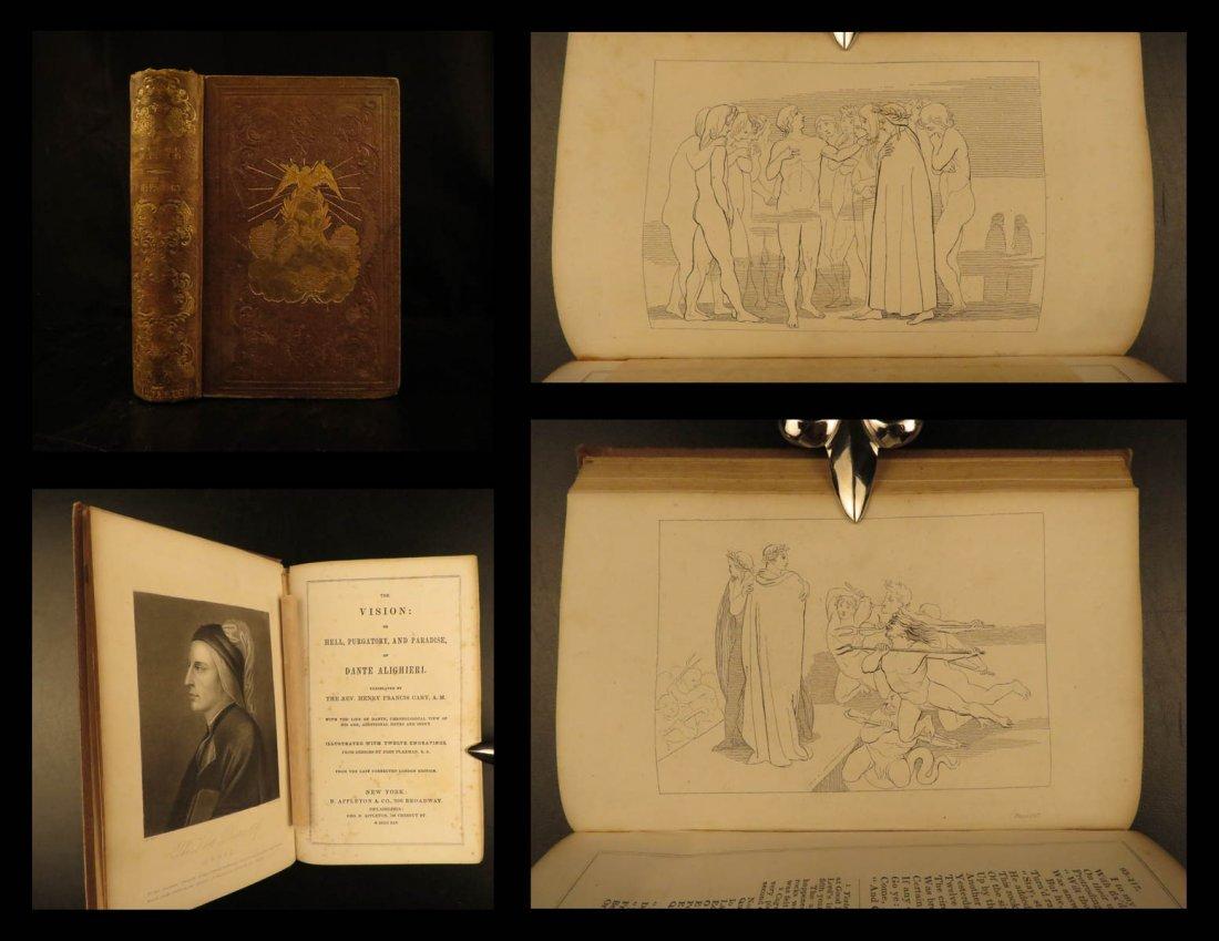 1845 Dante Alighieri Divine Comedy Inferno Vision Hell