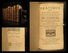 1713 RARE 9 Book Lot MEDICINE  Disease Boerhaave
