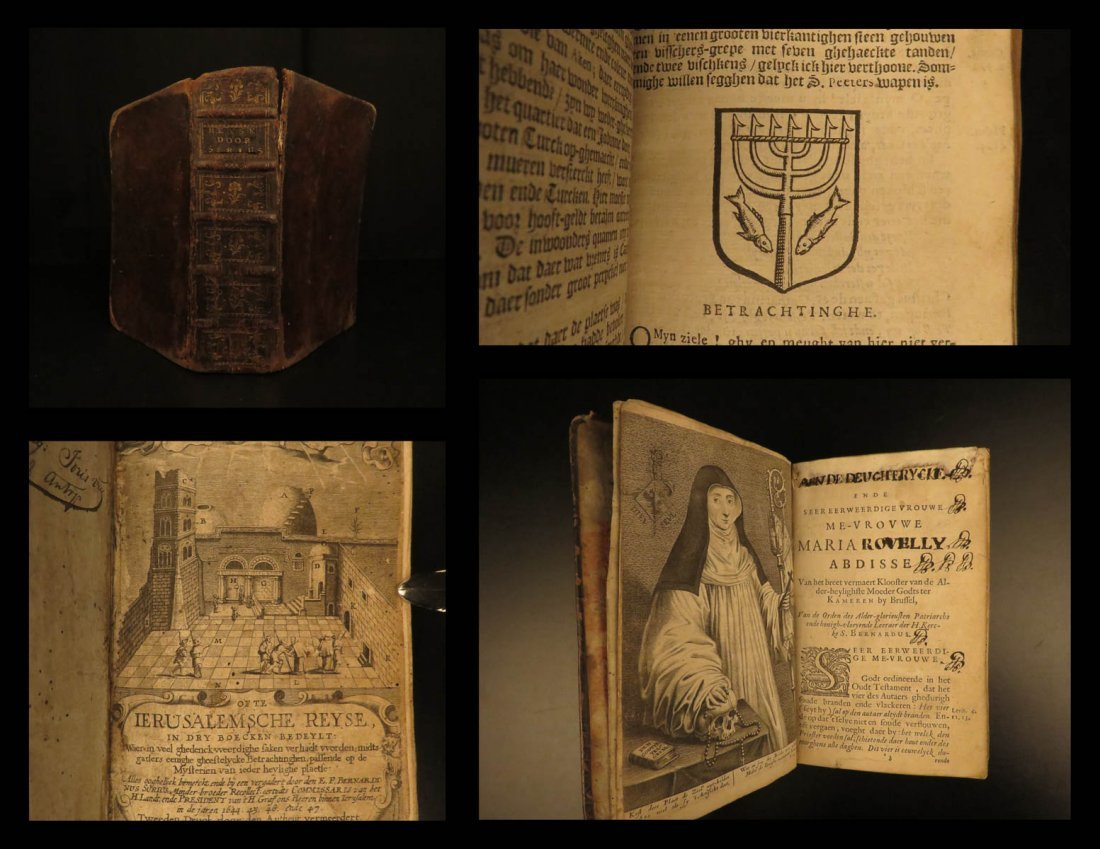 1653 Surius Pilgrimage to Jerusalem Church Sepulcher