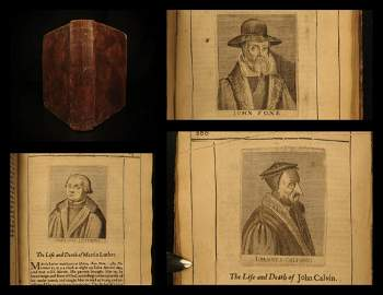 1651 1ed Martyrs of REFORMATION Huss Calvin Luther