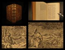 1698 Holy BIBLE Commentary Book of Ezekiel French de