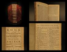 1764 Book of Common Prayer Church of England Bible