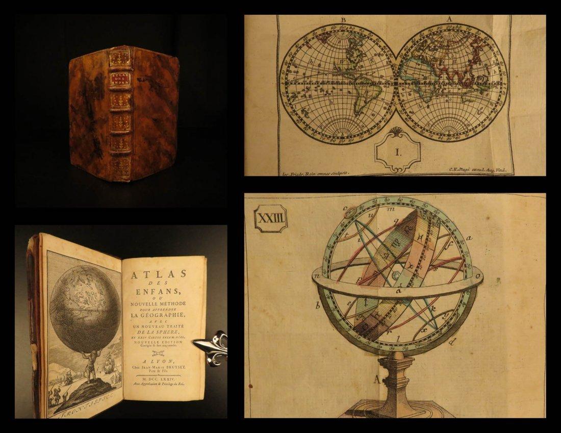 1774 ATLAS Bruyset 25 Color Maps AMERICA Scandinavia