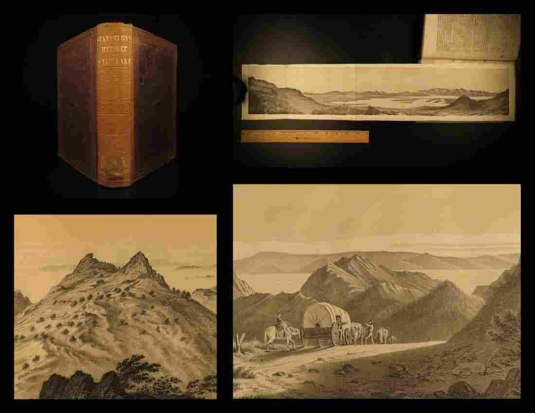 1853 Great Salt Lake Utah Stansbury Exploration Mormon