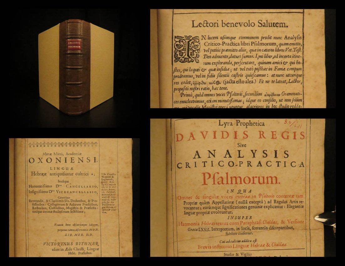 1653 Hebrew Bible Lyra Prophetica Davidis Victorinus
