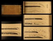 1856 Japanese Katana Samurai Old Sword Koto Illustrated