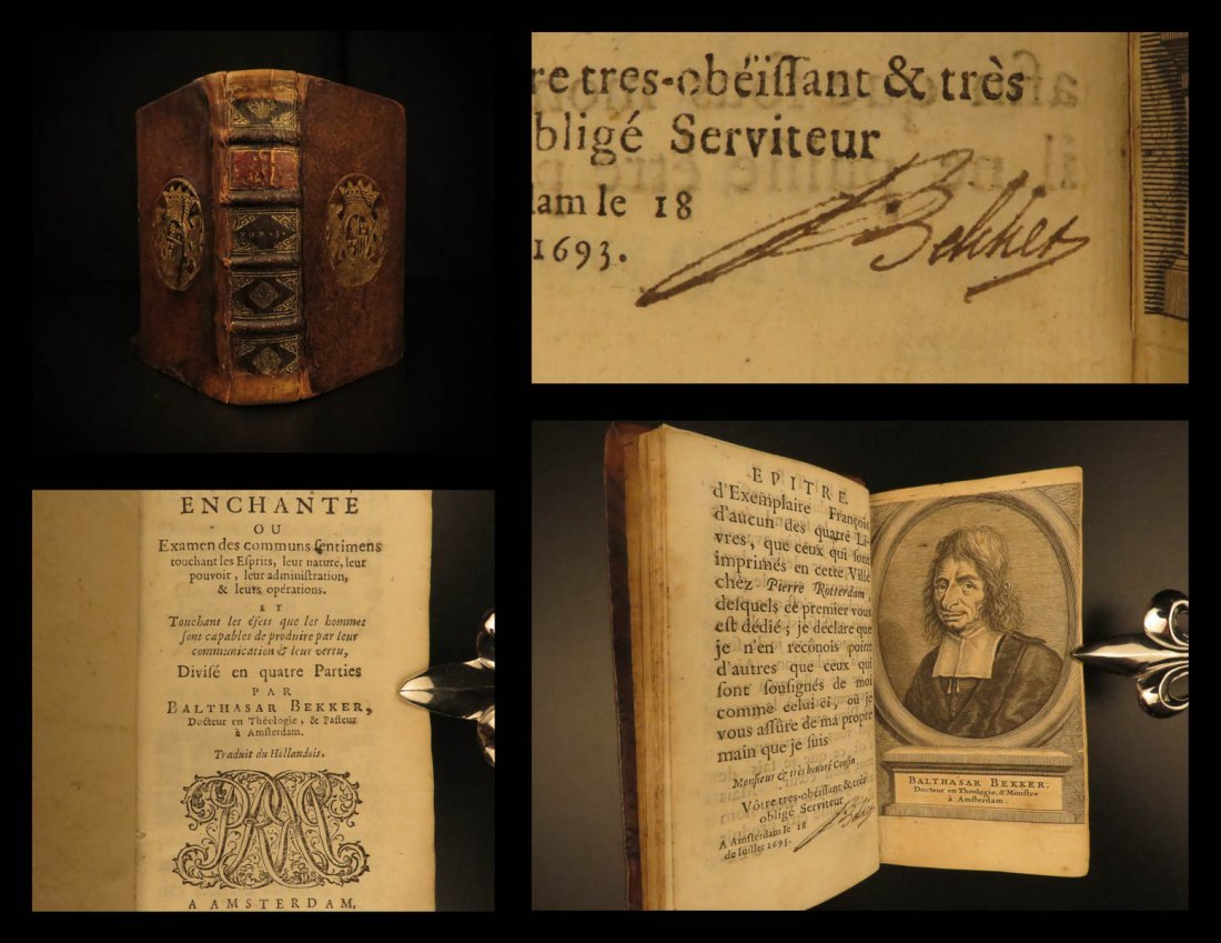 1694 Balthasar Bekker World Bewitched MAGIC Sorcery