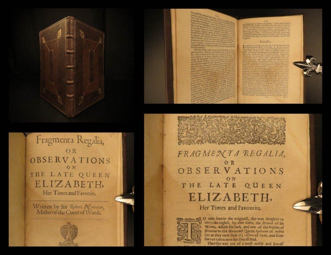 1641 1st ed Memoir of Queen Elizabeth I England Naunton