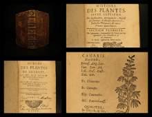 1689 HERBAL Botany Bauhin Plants Asia Africa America
