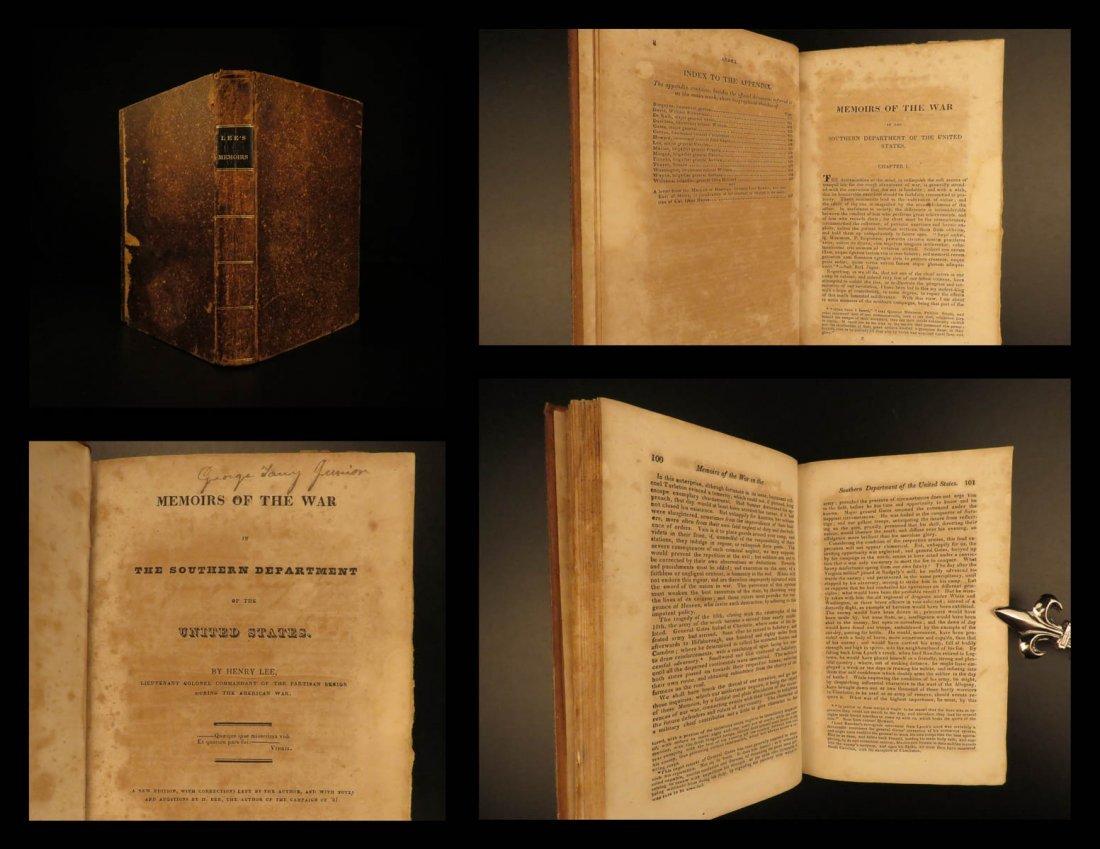1827 RARE Henry Lee Revolutionary War Memoirs American