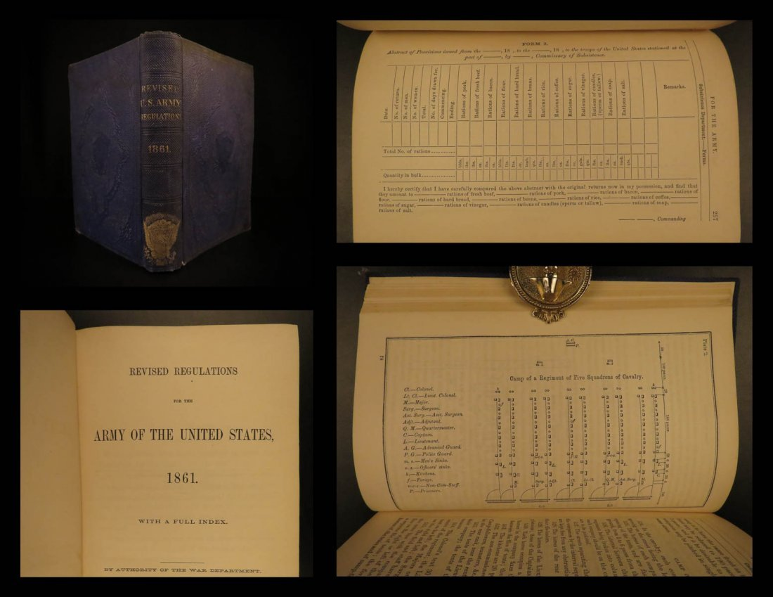 1862 US Army Regulations Civil War Union Soldier