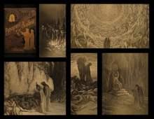 1880 Dante Alighieri Purgatory Paradise Hell Gustave