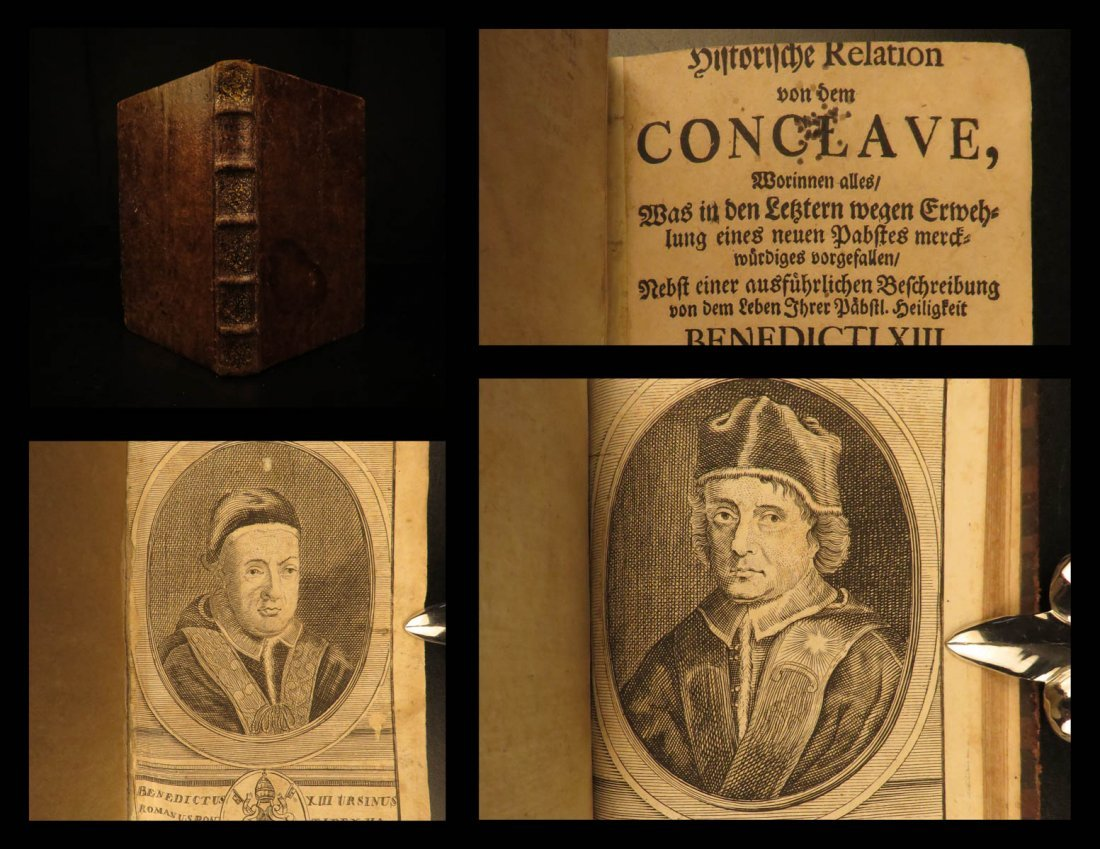 1724 1st ed History of Benedict XIII Papal Conclave