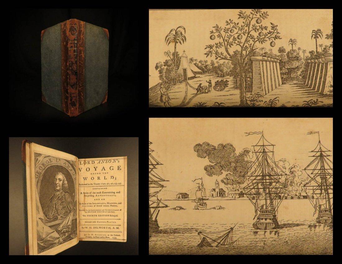 1759 George Anson Voyage Round the World Dilworth Spain