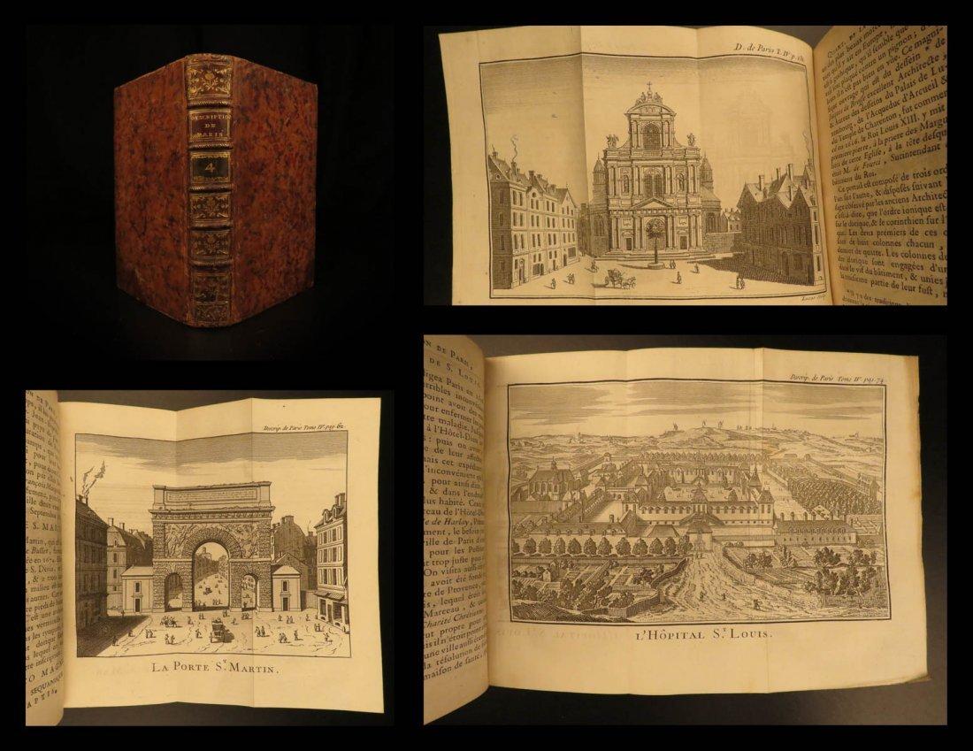 1765 Paris FRANCE City View Maps Architecture Art