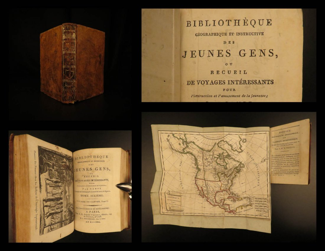 1802 Voyages of Jonathan Carver INDIANS North America