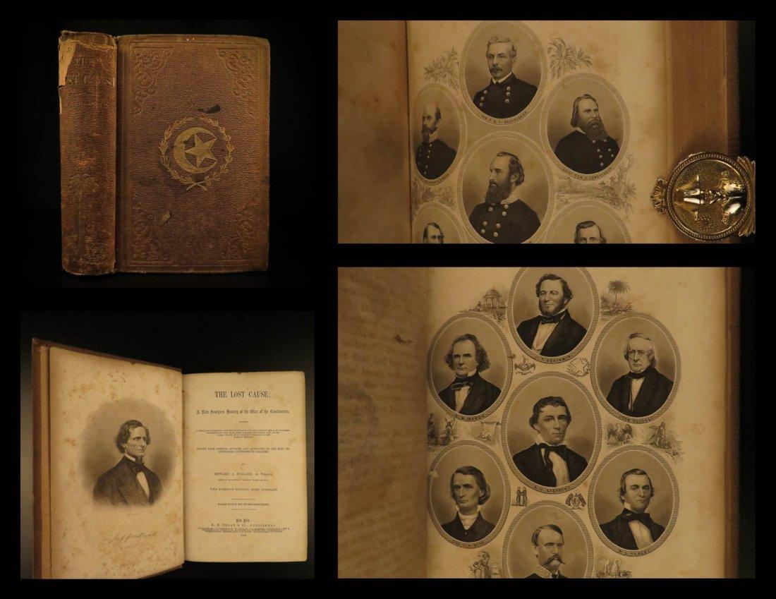 1866 1ed The Lost Cause Pollard Confederate Civil War