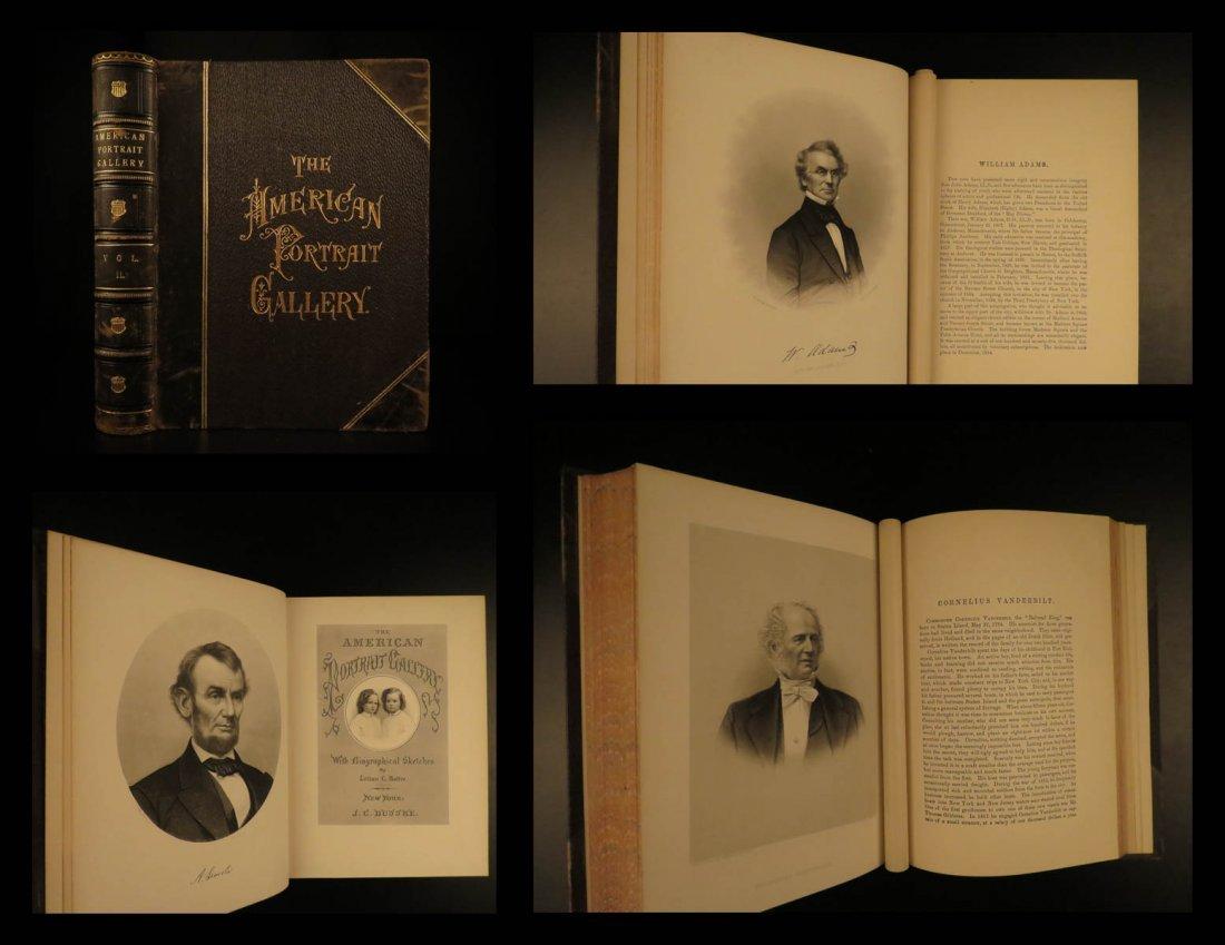 1877 1ed American Portrait Gallery Buttre Lincoln Grant