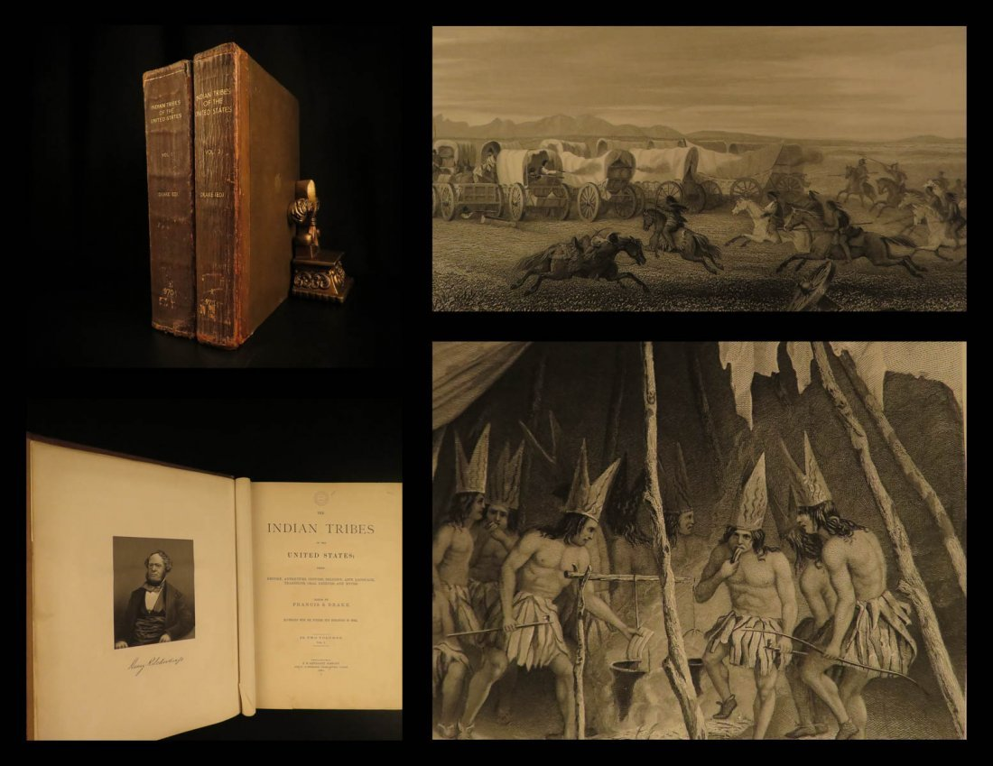 1884 Schoolcraft Indian Tribes Illustrated Native