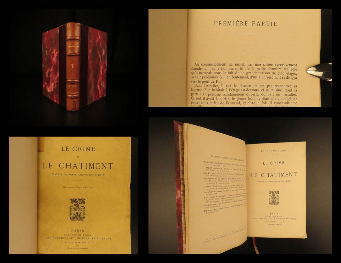 1890 Dostoevsky Crime and Punishment Russian Literature