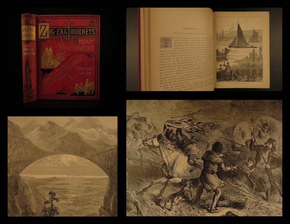1890 1ed Great Northwest VOYAGES Colorado INDIANS