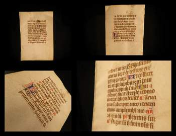 1400s BIBLE Medieval Manuscript Nigra Sum Song Songs