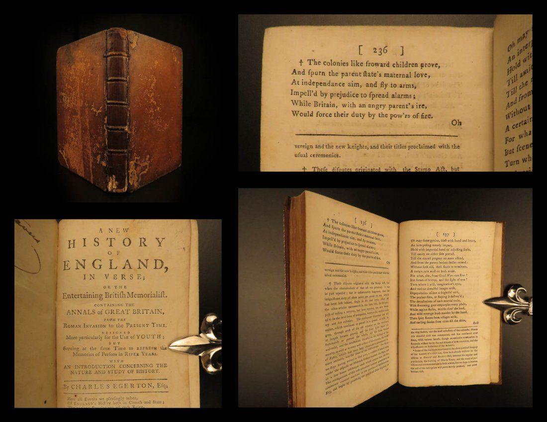 1780 EARLY American Revolutionary WAR Accounts Egerton