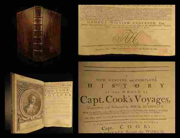 1784 1ed Anderson VOYAGES Captain James Cook Drake