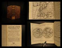1759 Geography 18 Maps ATLAS Africa Italy Asia America