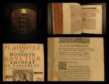 1663 French LAW Claude Gaultier Court Cases