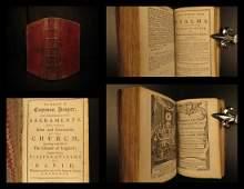 1772 BEAUTIFUL Book of Common Prayer Bible Psalms