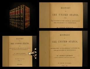 1861 History of the United States George Bancroft