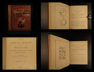 1884 Card Games of Patience Strategy Illustrated