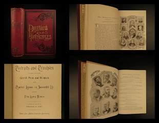 1894 1st Portraits & Principles Worlds Great Men