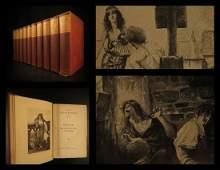 1910 Works of Victor HUGO Les Miserables Hunchback