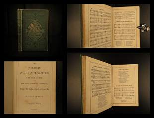 1868 American Sacred Songster Hymns Music Piano Score