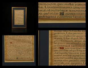 1500s Handwritten Manuscript Spanish Illuminated Gold