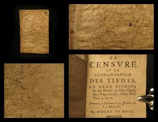 1671 Pierre du Bosc Protestant Bible Sermons