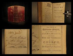 1791 Common Prayer & Bible Psalms Cambridge BEAUTIFUL