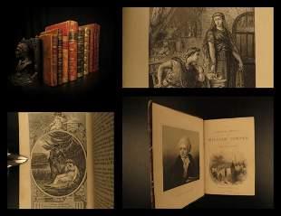 1797 RARE 9 Book Lot BINDINGS Shakespeare da Vinci
