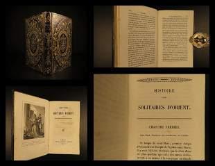 1842 BEAUTIFUL BINDING Desert Saints Paul MONKS Egypt