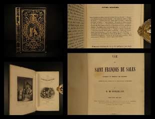 1846 BEAUTIFUL BINDING Life of Saint Francois de Sales