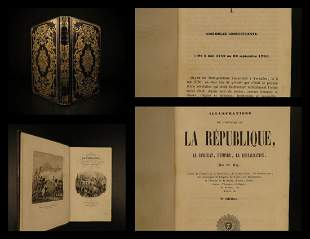 1847 BEAUTIFUL BINDING French Revolution Consulate
