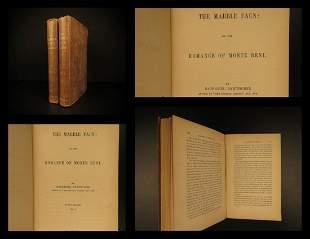 1860 1st ed Nathaniel Hawthorne The Marble Faun Romance